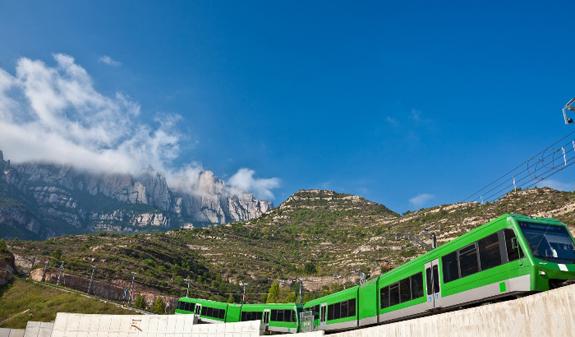 Montserrat, a religious mountain near Barcelona